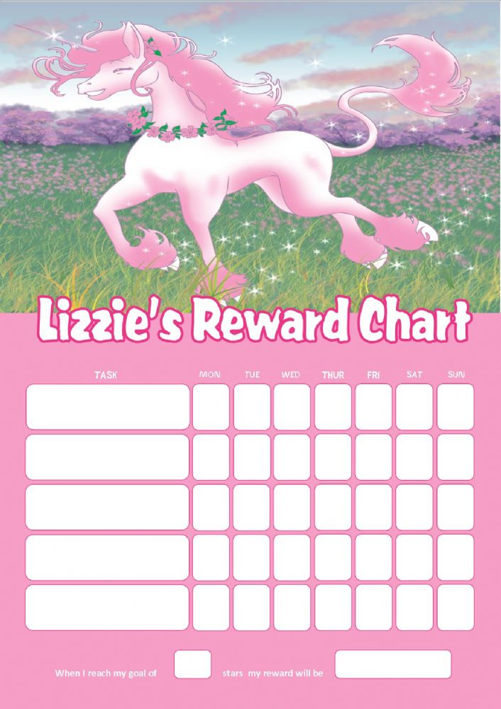 Personalised Unicorn Reward Chart Adding Photo Option